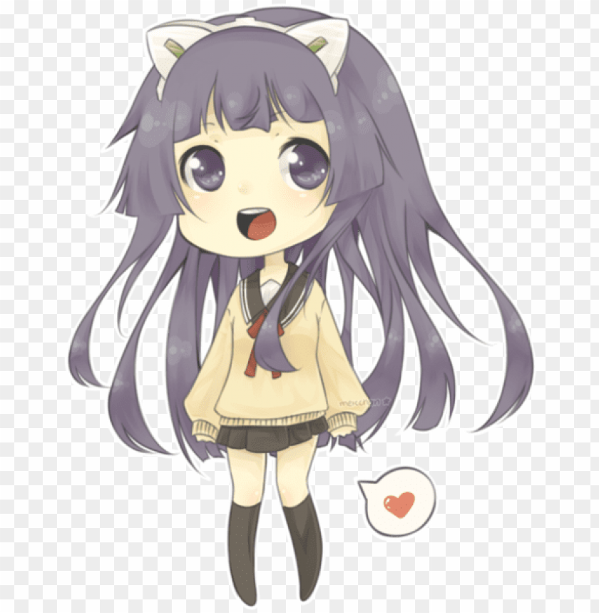 free PNG cute chibi anime girl - hội trưởng là hầu gái chibi PNG image with transparent background PNG images transparent
