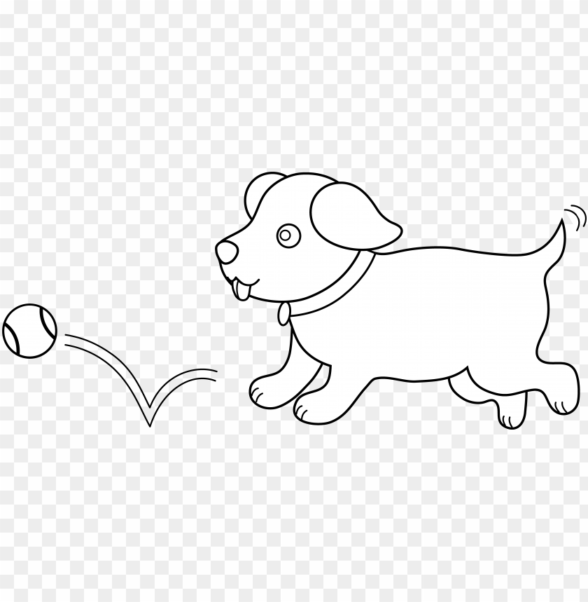 Cute Dog Clipart Black And White Clip Art Png Image With
