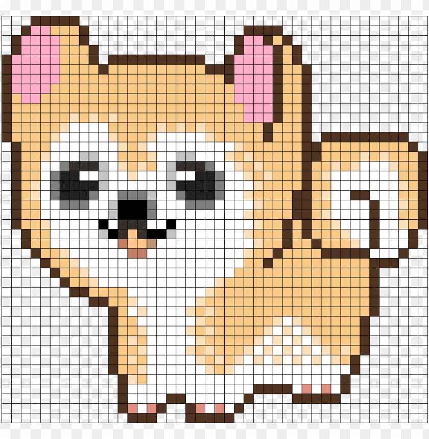 Cute Dog Perler Bead Pattern Bead Sprite Pixel Art Easy