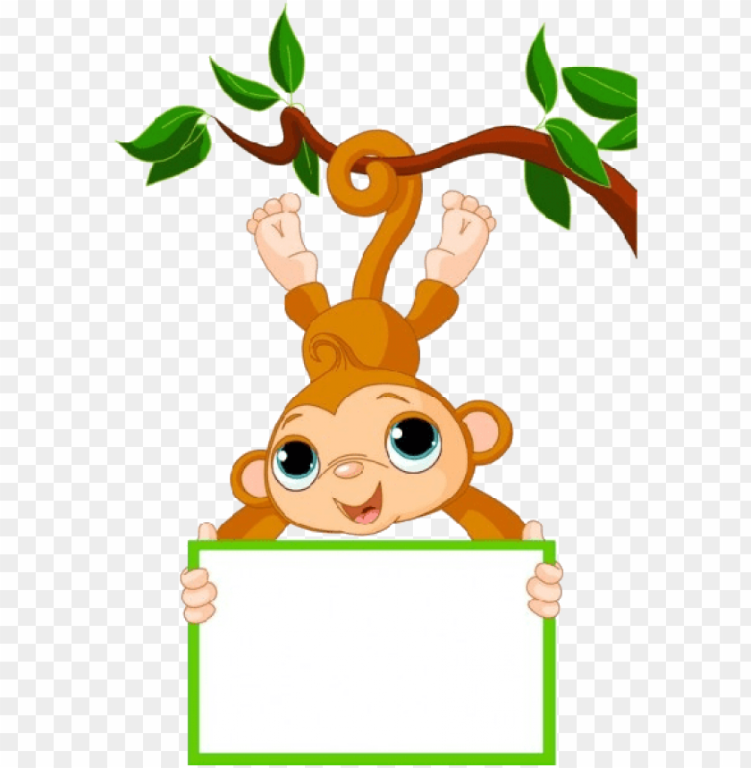 free PNG cute funny cartoon baby monkey clip art images - baby monkey clip art PNG image with transparent background PNG images transparent