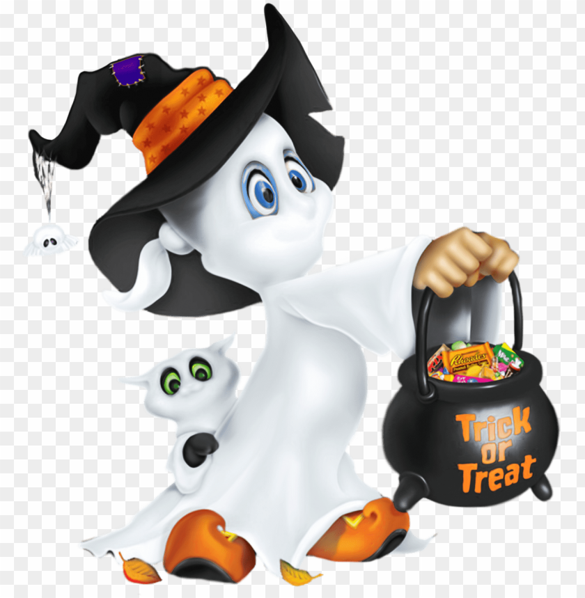 Cute Halloween Ghost Clipart Png Image With Transparent Background Toppng