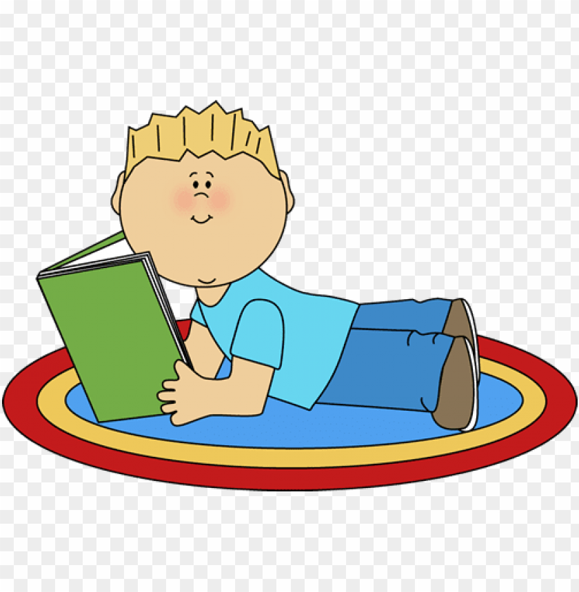 free PNG cute kids reading clipart - boy reading clipart PNG image with transparent background PNG images transparent