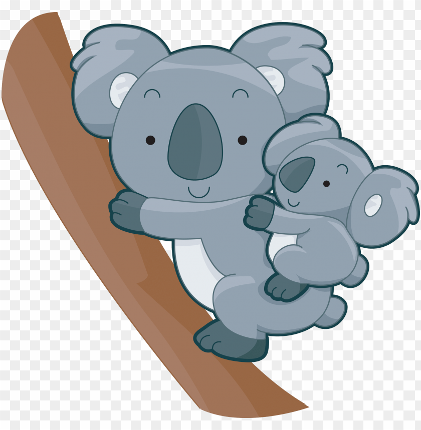 free PNG cute koalas cute animal clipart, baby koala, koala - koala with baby cartoo PNG image with transparent background PNG images transparent