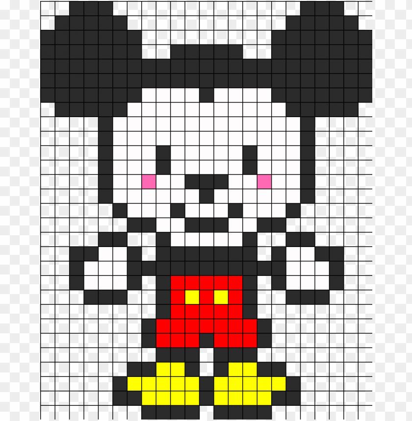 Cute Mickey Mouse Perler Bead Pattern Bead Sprite Pixel