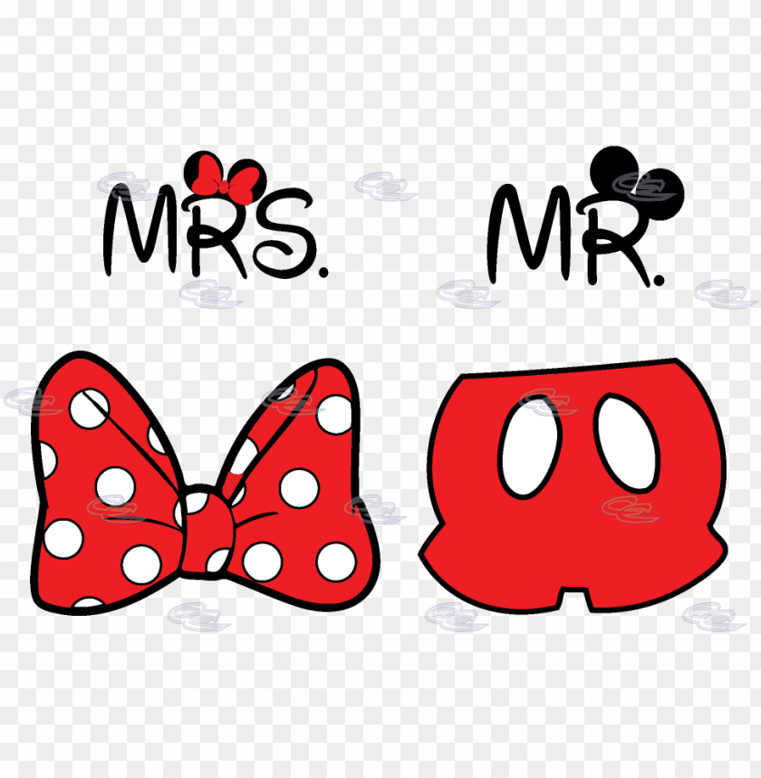 free PNG cute mr mrs matching shirts, minnie mouse polka dots - molde de moño de minnie PNG image with transparent background PNG images transparent