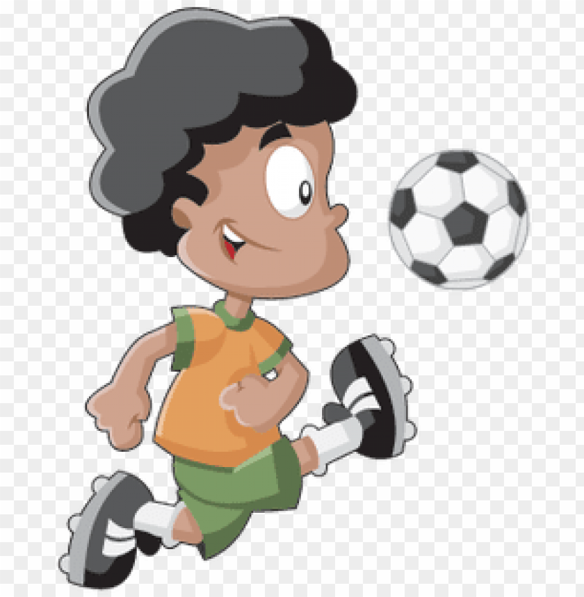 Cute Playful Cartoon Boy Playing Soccer Football Swimming Cartoon Playing Soccer Png Image With Transparent Background Toppng