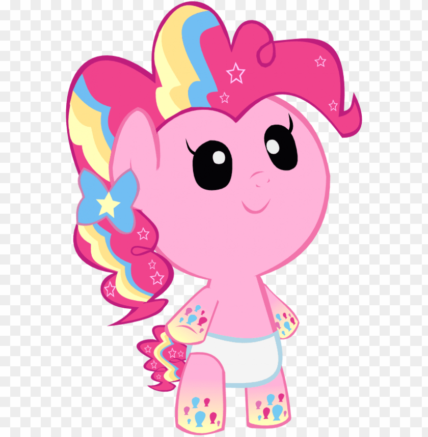 free PNG cute rainbow power pinkie pie foal - my little pony baby PNG image with transparent background PNG images transparent