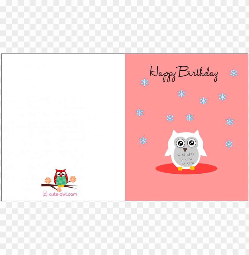 Groovy Cute Snowy Owl Happy Birthday Card Fun Happy Birthday Card Personalised Birthday Cards Rectzonderlifede