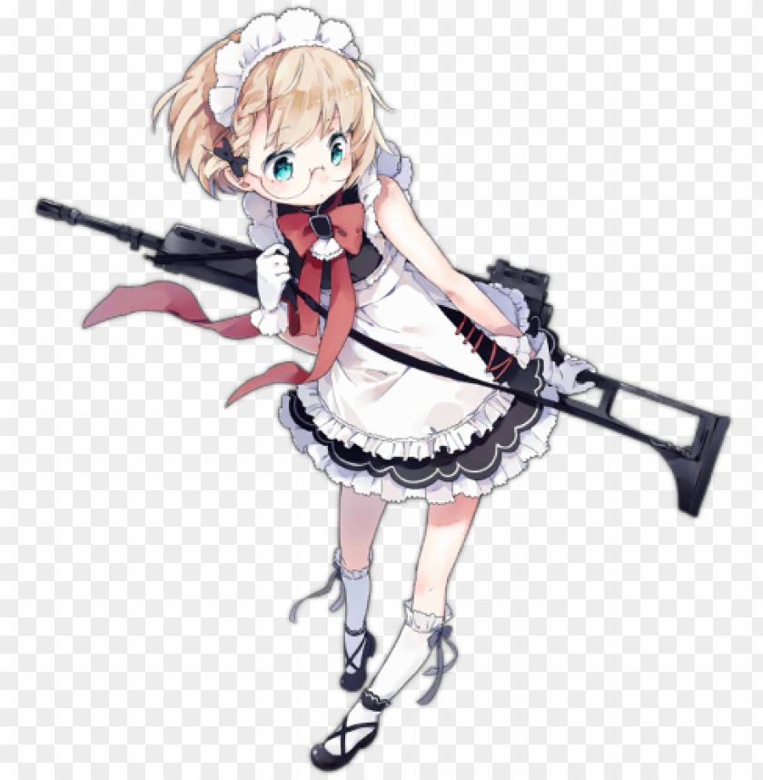 free PNG cuteness is justice - gr g36 ドルフロ PNG image with transparent background PNG images transparent