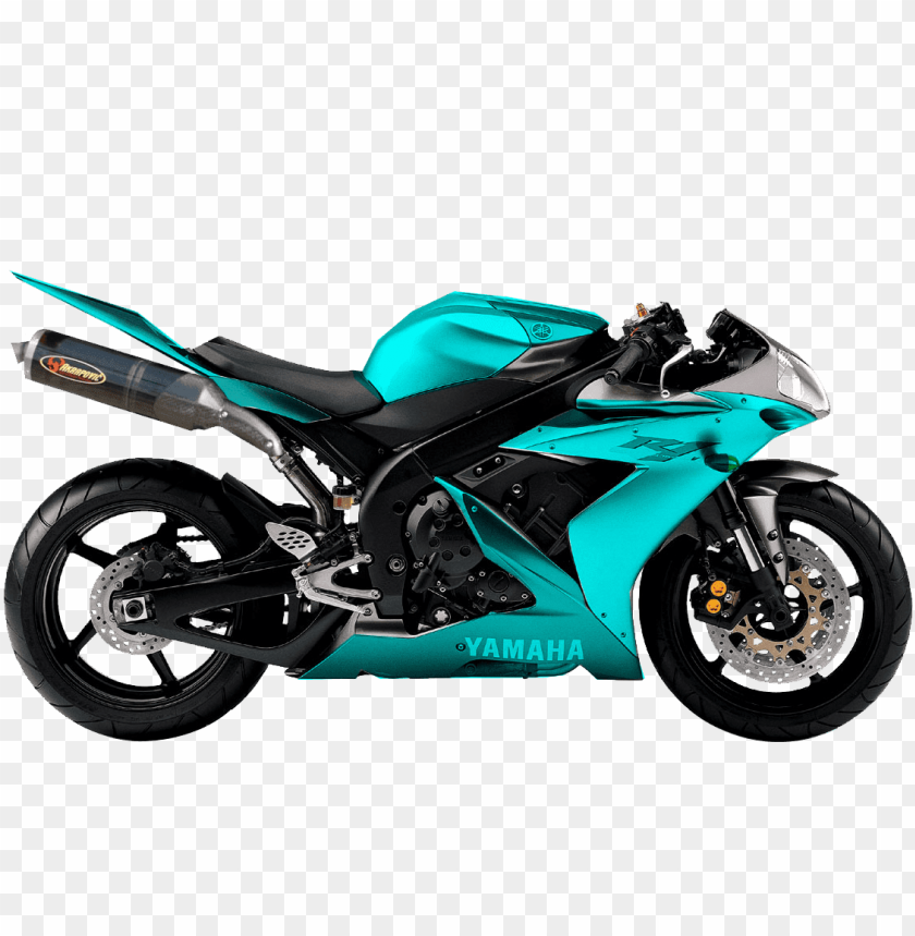 free PNG Download cyan green blue yamaha motorcycle png images background PNG images transparent