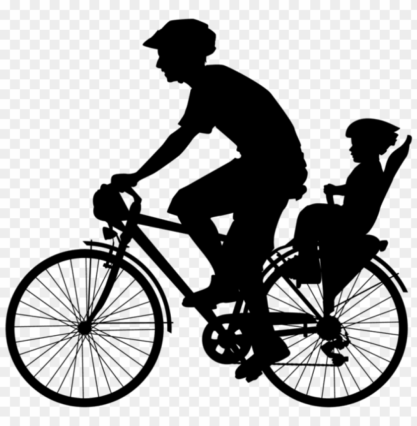 free PNG cyclist with child silhouette png - Free PNG Images PNG images transparent