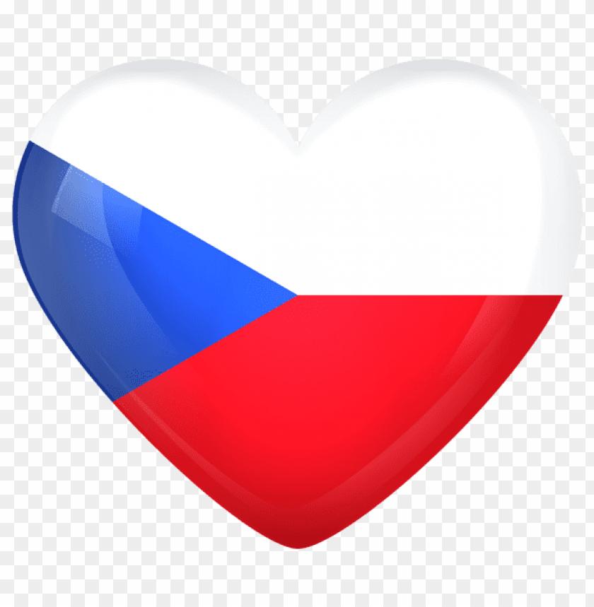 free PNG Download czech republic large heart flag clipart png photo   PNG images transparent