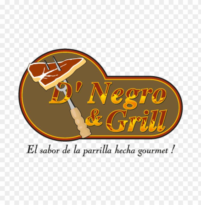 free PNG d' negro & grill vector logo PNG images transparent