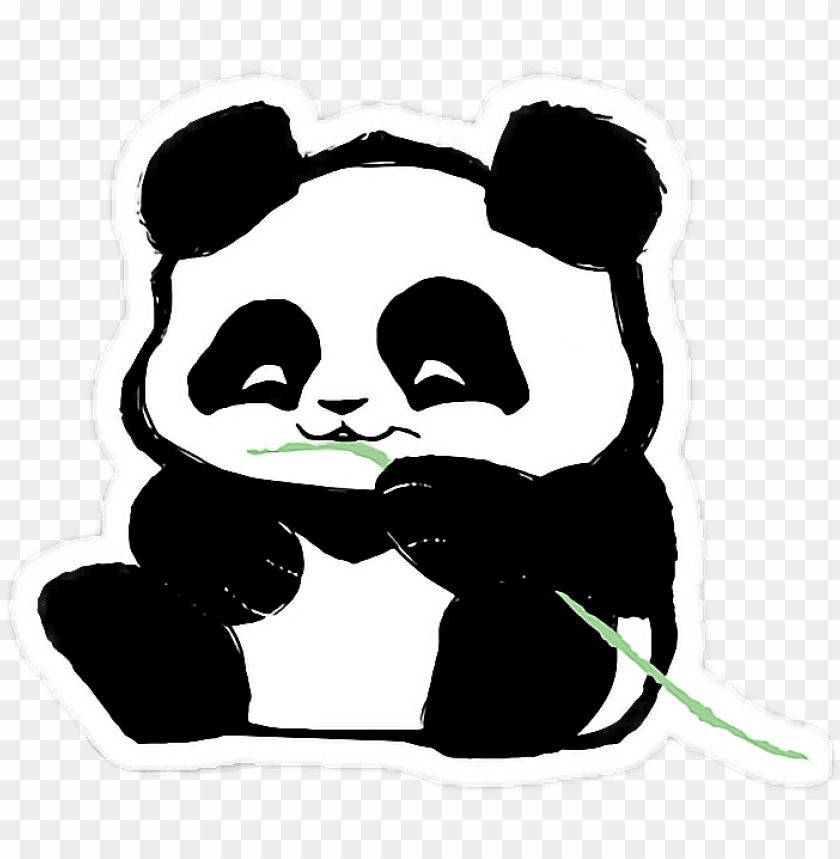 free PNG dab vector panda sweet blackandwhite cute tumblr free - sticker tumblr de tecnologia PNG image with transparent background PNG images transparent