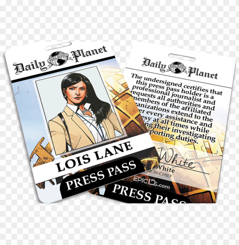 free PNG daily planet lois lane press pass e1503294094607 PNG image with transparent background PNG images transparent