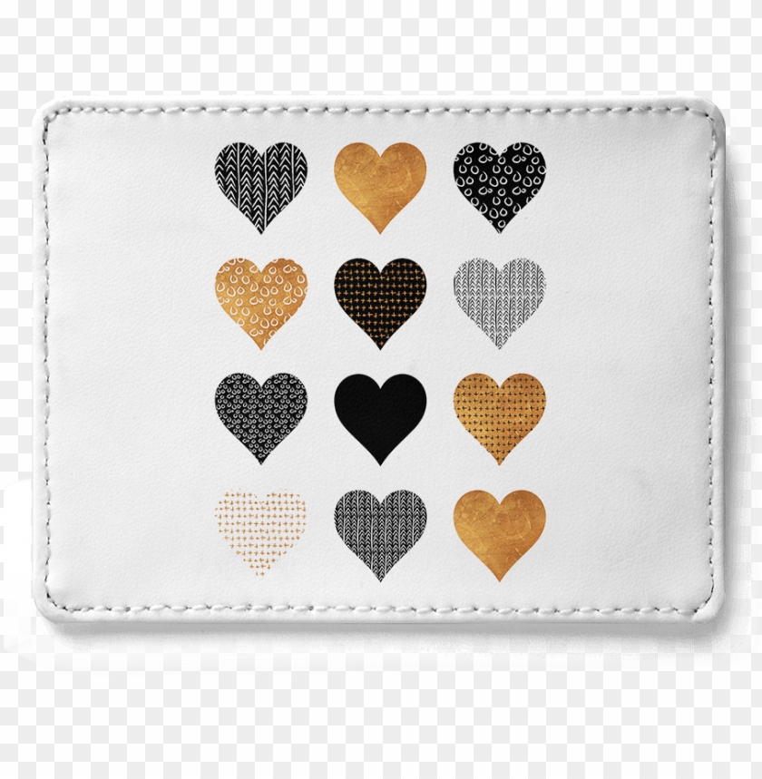 dailyobjects gold hearts skinny fit card wallet buy - heart PNG image with transparent background@toppng.com