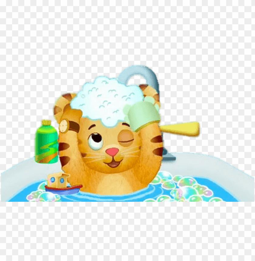 free PNG Download daniel tiger taking a bath clipart png photo   PNG images transparent