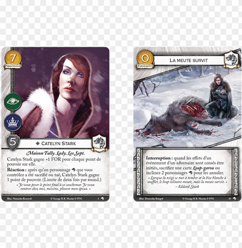 dans cette nouvelle extension, vous découvrirez de - game of thrones the card game (second edition) wolves PNG image with transparent background@toppng.com