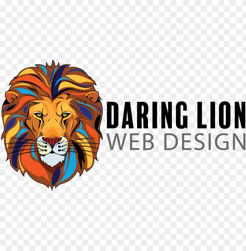 free PNG daring lion web design - lion web desi PNG image with transparent background PNG images transparent
