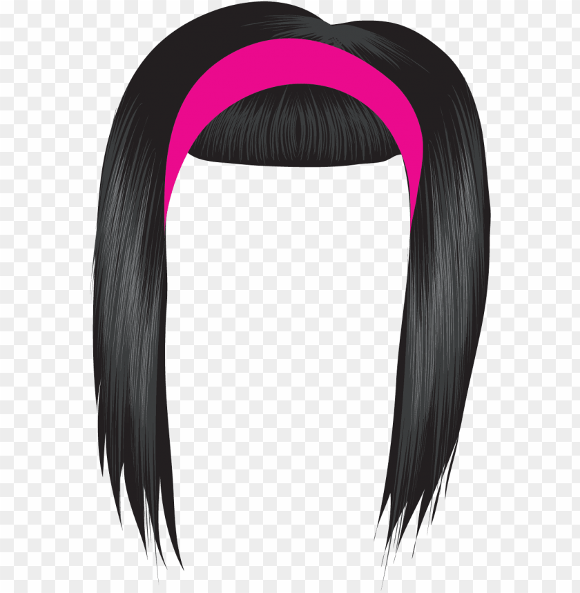 dark hair clipart black hair wig - hair clipart PNG image with transparent background@toppng.com