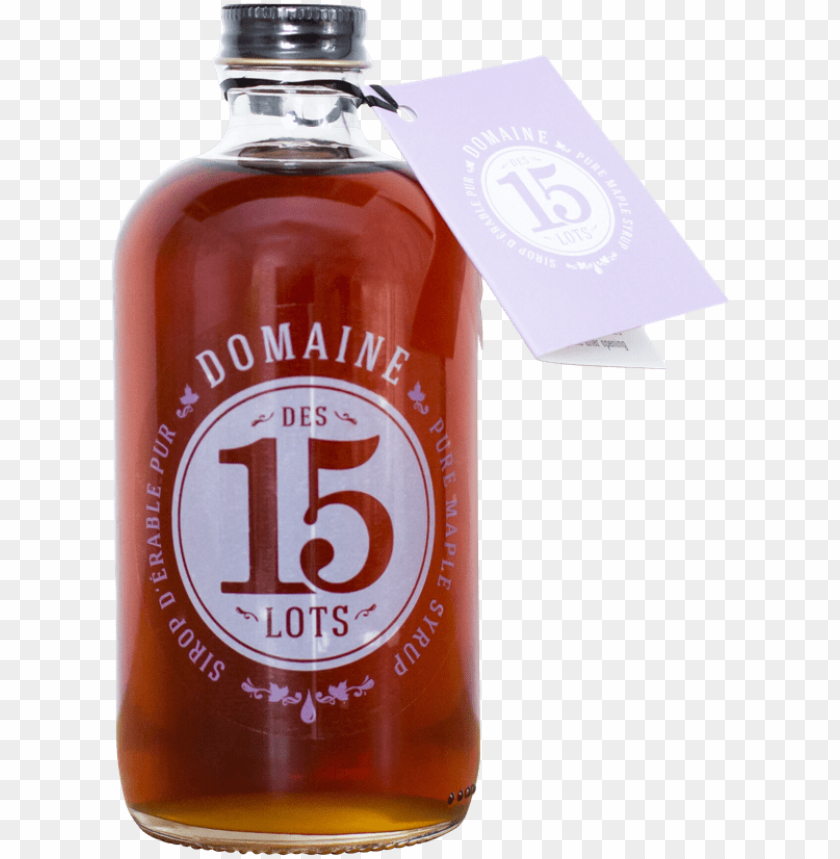free PNG dark maple syrup domaine des 15 lots - glass bottle PNG image with transparent background PNG images transparent