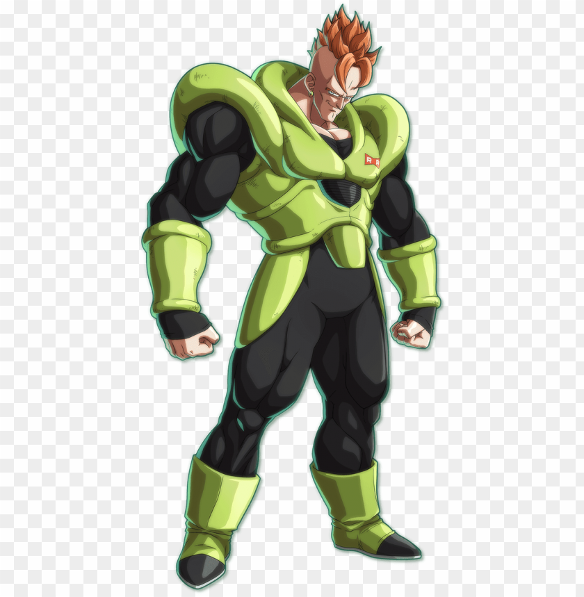 free PNG dbfz android16 portrait - dragon ball fighterz android 16 PNG image with transparent background PNG images transparent