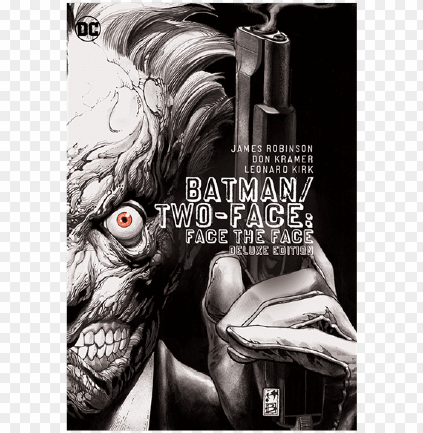 dc comics - batman - two-face - face the face deluxe - batman two face face the face deluxe edition hc PNG image with transparent background@toppng.com