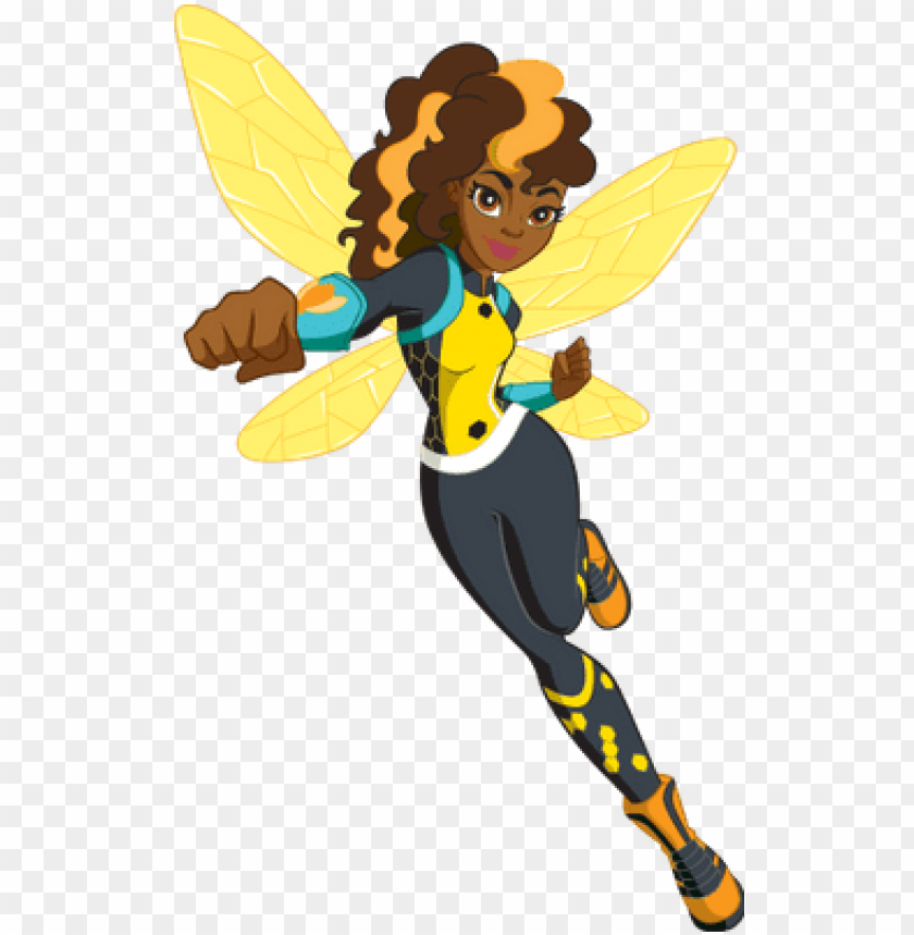 free PNG dc super hero girls bumblebee - ivy bumblebee dc superhero girls PNG image with transparent background PNG images transparent