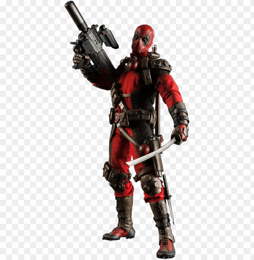 """free PNG deadpool 1/6th scale action figure - deadpool - 1:6 scale 12"""" 1:6 scale action figure PNG image with transparent background PNG images transparent"""