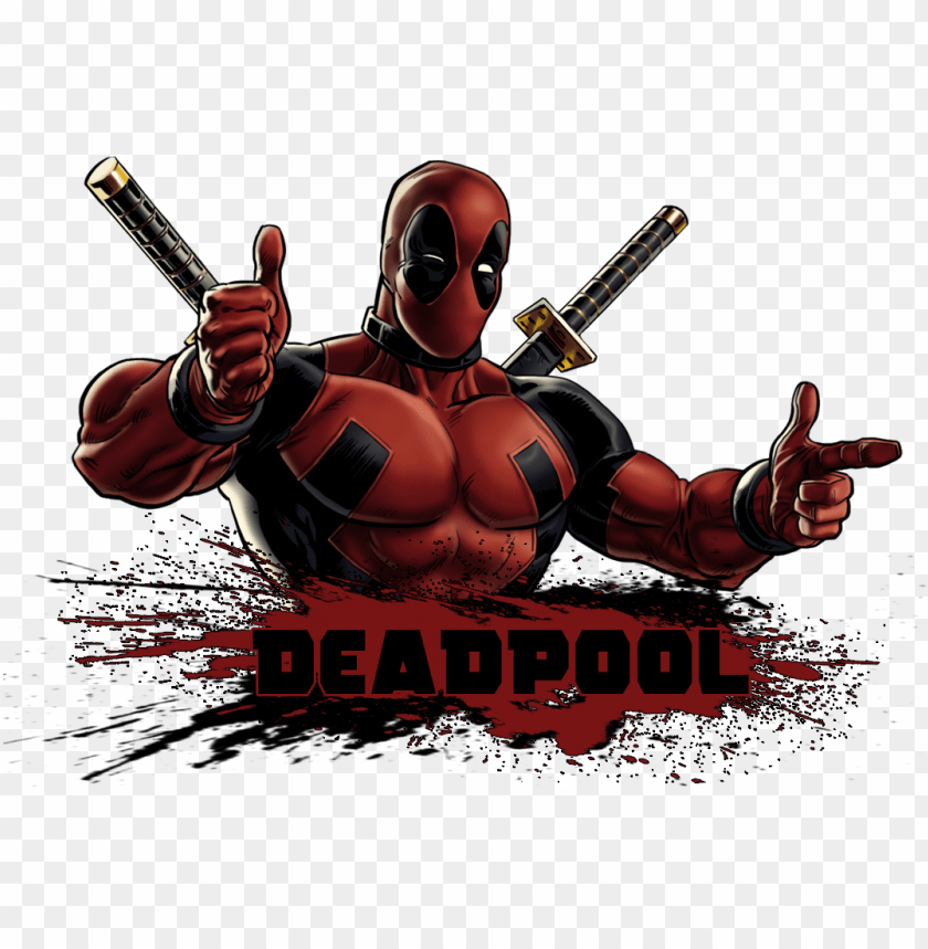 Deadpool And Logo Deadpool Art Png Image With Transparent Background Toppng