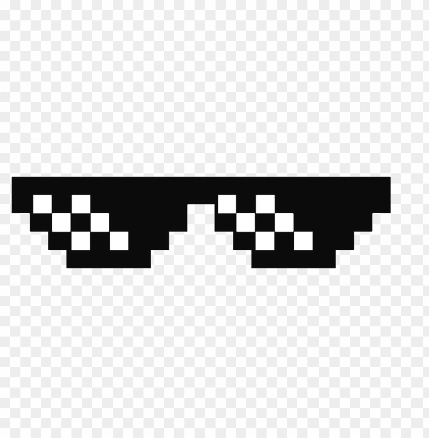 deal with it glasses thug life sunglasses by swagasaurus - thug life accessories PNG image with transparent background@toppng.com