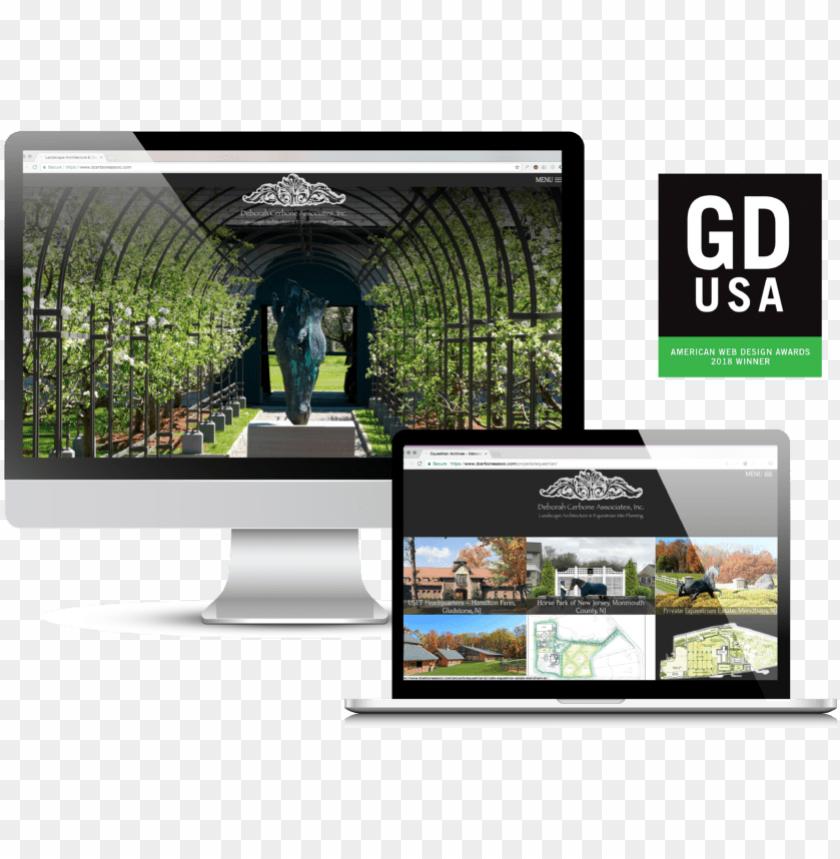 free PNG deborah cerbone associates gdusa 2018 web design award - graphic design usa PNG image with transparent background PNG images transparent