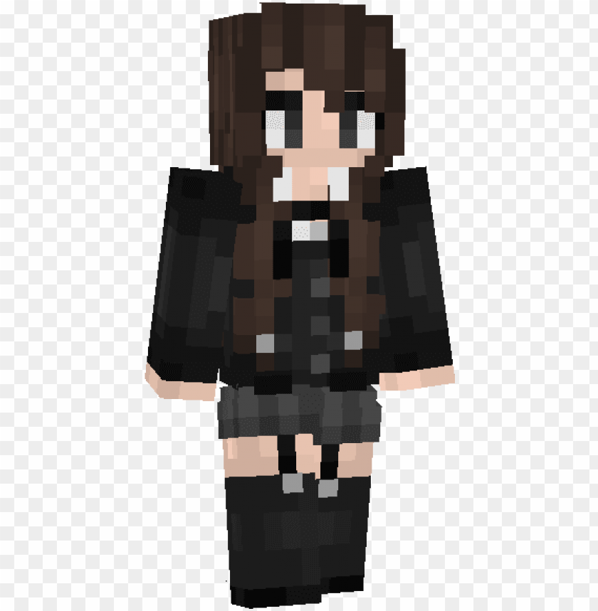 free PNG decided to make an anime school girl skin - skin anime girl minecraft PNG image with transparent background PNG images transparent