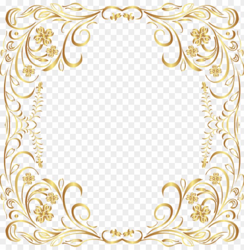 free PNG deco gold border frame png clip art - gold borders and frames PNG image with transparent background PNG images transparent