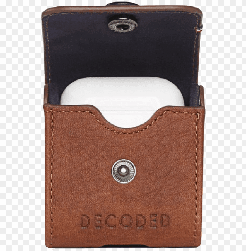 decoded leather case for apple airpods brown - decoded leather case for apple airpods PNG image with transparent background@toppng.com