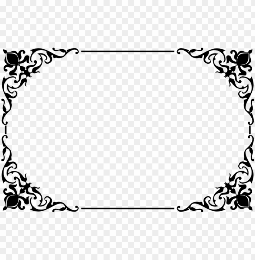 Decorative Border Png Clipart Frame Border Design Png Image With