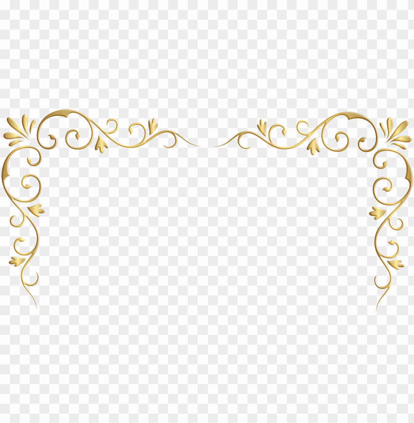 free PNG decorative corner borders transparent download - gold corner border clipart PNG image with transparent background PNG images transparent