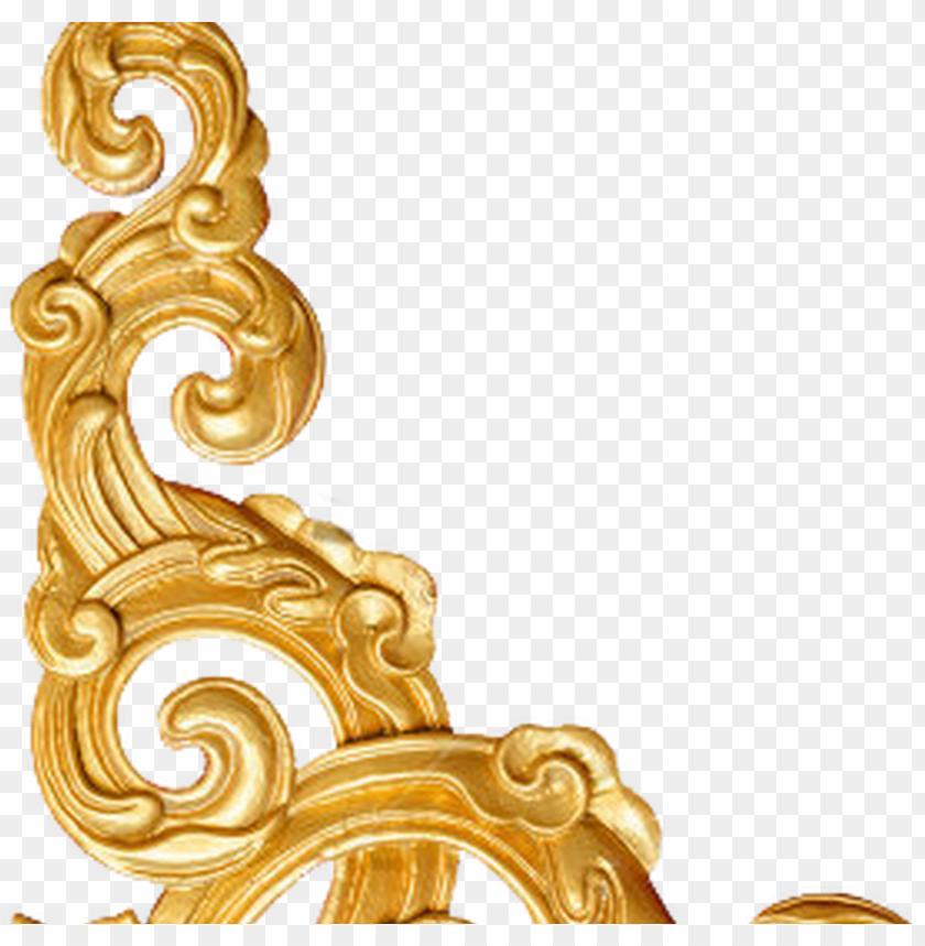 free PNG decorative corner gold by gazlan sahmeiy on deviantart - golden corner border PNG image with transparent background PNG images transparent