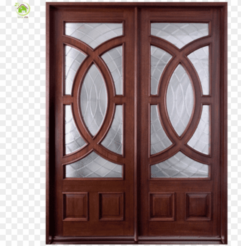free PNG decorative designer solid wooden front double leaf - wooden doors and windows PNG image with transparent background PNG images transparent