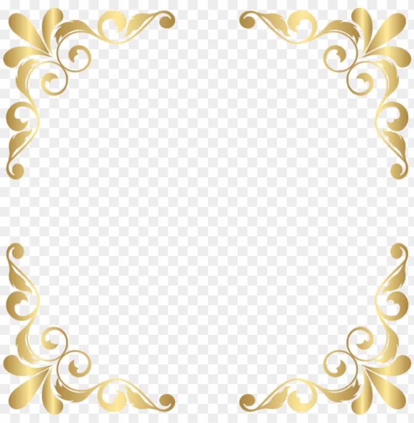 decorative lines corner transparent golden floral vector png image with transparent background toppng golden floral vector png image with