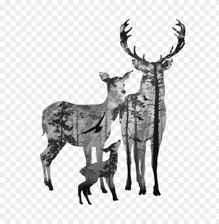 free PNG deer canvas clip art elk transprent png - forest silhouette deer PNG image with transparent background PNG images transparent