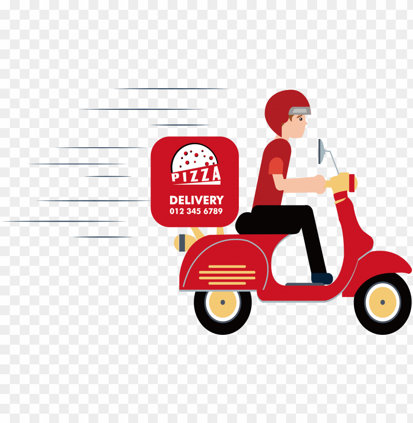 delivery clipart delivery scooter pizza delivery vector png image with transparent background toppng pizza delivery vector png image with