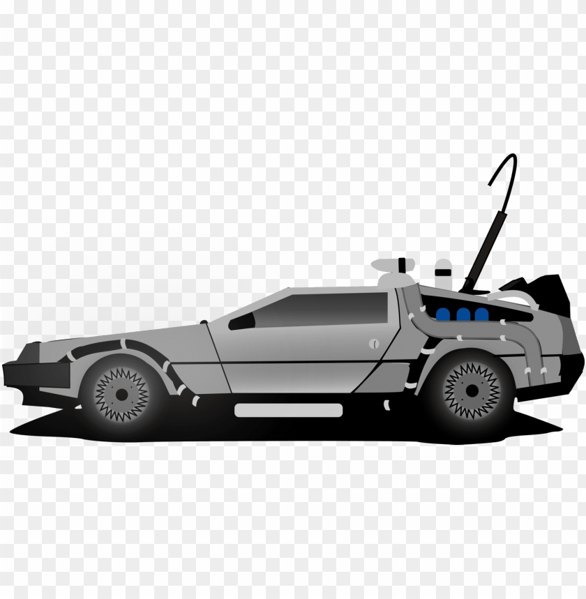 free PNG delorean dmc-12 car marty mcfly delorean time machine - cartoon back to the future car PNG image with transparent background PNG images transparent
