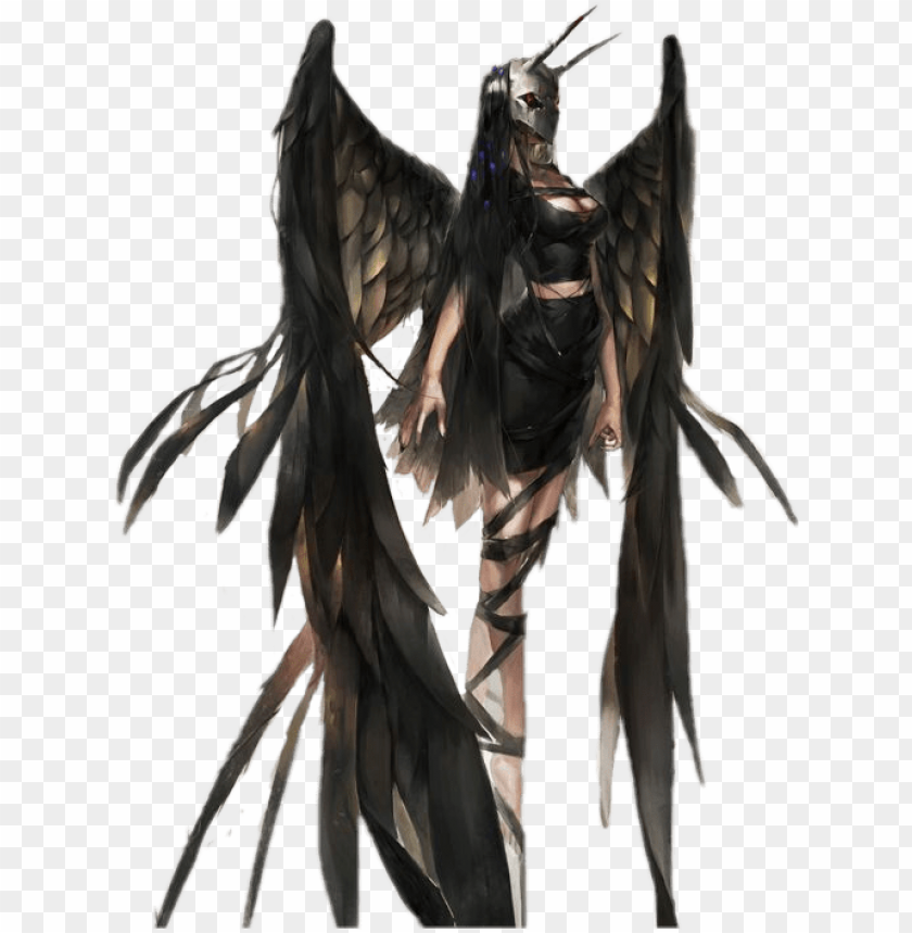 free PNG demon girl demon anime sticker vajola png anime girl - fallen angel anime girl PNG image with transparent background PNG images transparent
