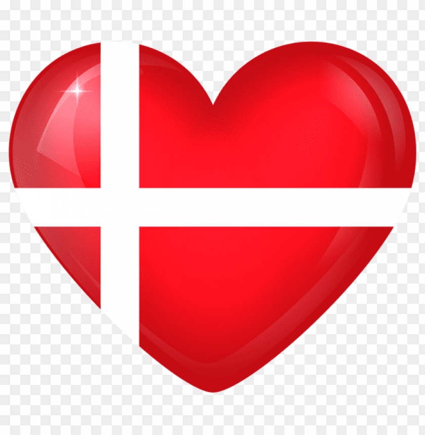 free PNG Download denmark large heart flag clipart png photo   PNG images transparent
