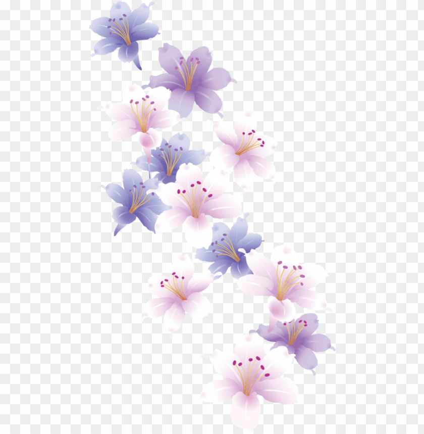 free PNG design set 2 butterflies/flowers pastel flowers, butterfly - flower PNG image with transparent background PNG images transparent