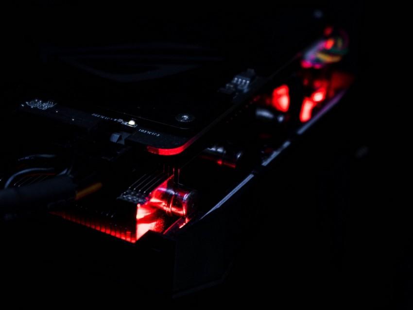 free PNG device, hardware, computer technology, backlight, dark background PNG images transparent