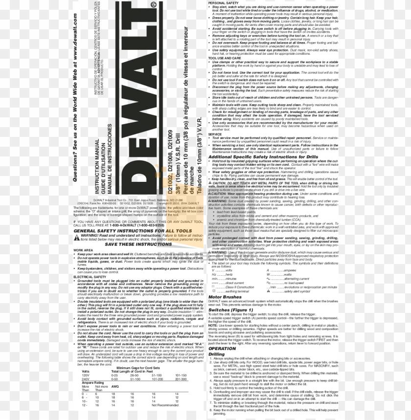 free PNG df for dewalt other d21009 drills manual - dewalt electrical licensing exam guide: based PNG image with transparent background PNG images transparent