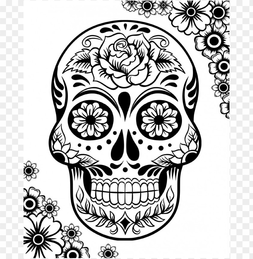 33 Skull Coloring Pages For Adults (FREE) | 859x840
