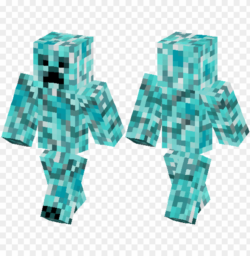 Diamond Creeper Skin Minecraft Png Image With Transparent Background Toppng